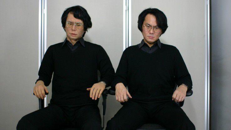 Zum verwechseln ähnlich: Hiroshi Ishiguro und sein Geminoid.