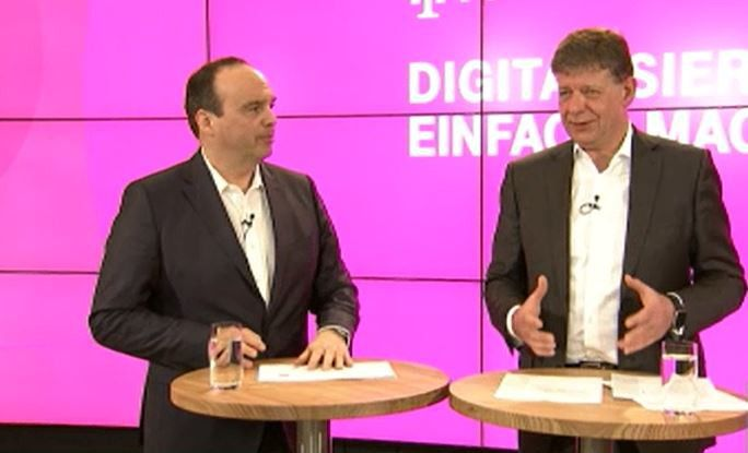 Beide Telekom-Manager zeigten sich auf der Pressekonferenz in Angriffslaune.