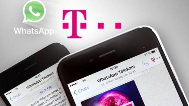 Nachrichten von der Telekom per WhatsApp auf dem Smartphone empfangen