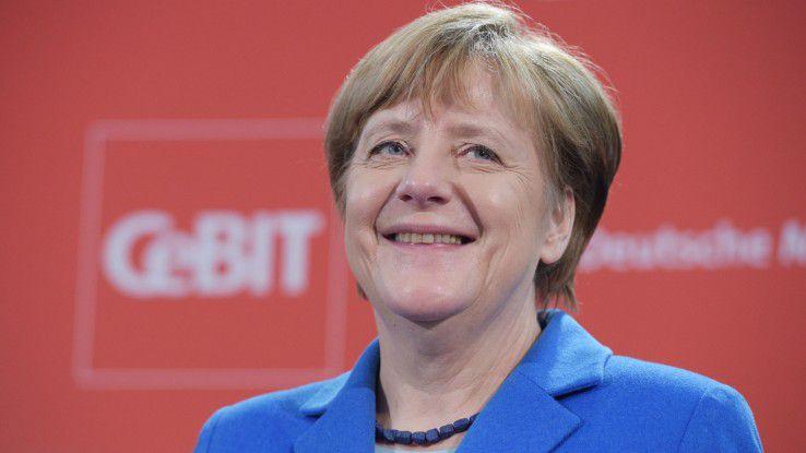 SMS-Fan Merkel kann künftig auch per BSI-zertifiziertem Android-Tablet sicher kommunizieren.