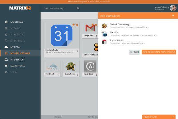 Besonderes Feature von MyWorkspace ist die einfache Bedienbarkeit.