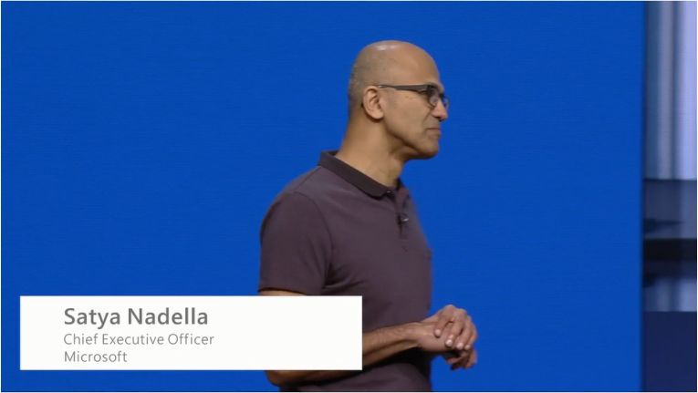 Satya Nadella eröffnete die Microsoft Build 2016.