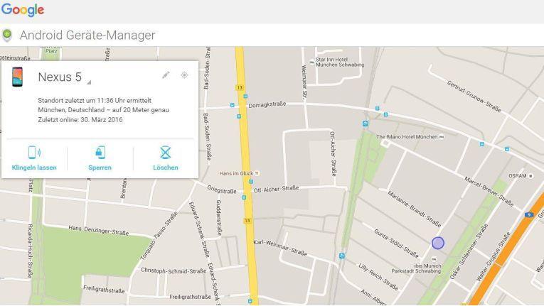 Mit dem Android Geräte Manager können Android-Nutzer - und ggf. auch Google Devices orten und u. U. entsperren.