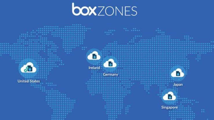 Nutzer des Cloud-Storage-Diensts Box können künftig wählen, in welcher Region ihre Daten gespeichert werden.