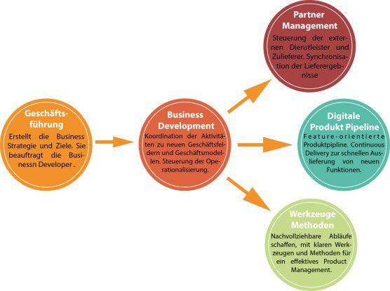 Abb. 1: Business Development im Spannungsfeld der Geschäftsführung und der Operationalisierung.