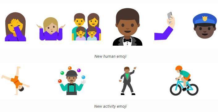 Die neuen Emojis von Android N