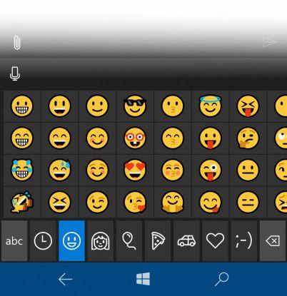 Wers braucht: Microsoft hat auch die Emojis überarbeitet.