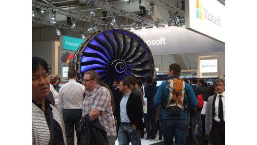Predictive Maintenance ist eine der typischen Anwendungen für IoT - hier etwa an einer Flugzeugturbine.