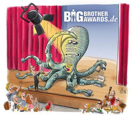 Mit dem Negativpreis Big Brother Award 2016 beschert der Datenschutzverein Digitalcourage seit mehr als 14 Jahren die aus ihrer Sicht schlimmsten Datenkraken.