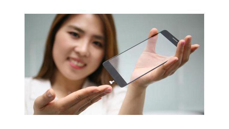 LGs neuer Fingerabdrucksensor sitzt direkt unter dem Display-Glas.