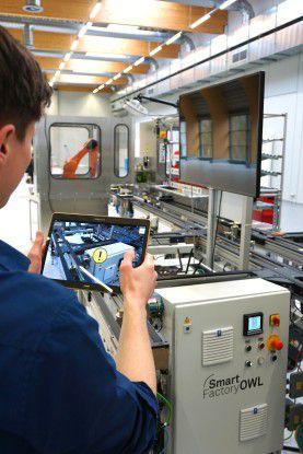 Ein virtuelles Post-it informiert Wartungstechniker über fehlerhafte Komponenten.
