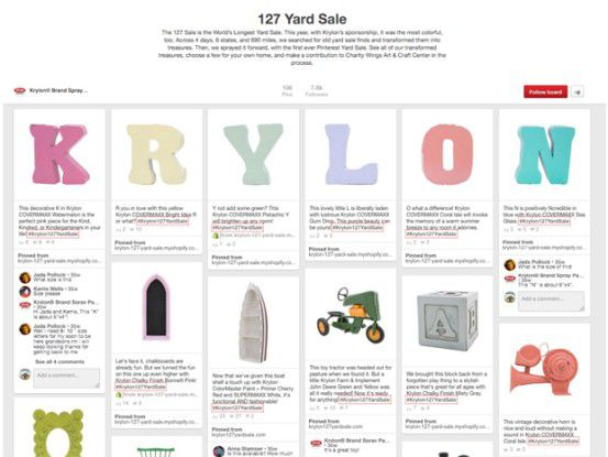 Krylon bot die im Rahmen des Corridor Sale gekauften Produkte in aufgehübschtem Zustand zum Kauf an.