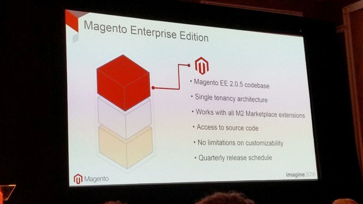 Ein Highlight auf der Magento Imagine 2016: Die Ankündigung der Magento Enterprise B2B Edition.