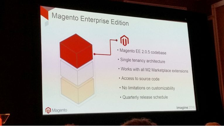 Ein Highlight auf der Magento Imagine 2016: Die Ankündigung der Magento Enterprise B2B Edition.