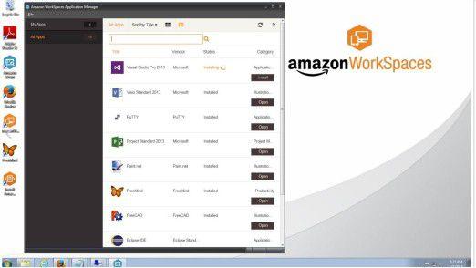 Mit Amazon WorkSpaces offeriert AWS einen verwalteten Desktop-Computing-Service in der Amazon-Cloud.