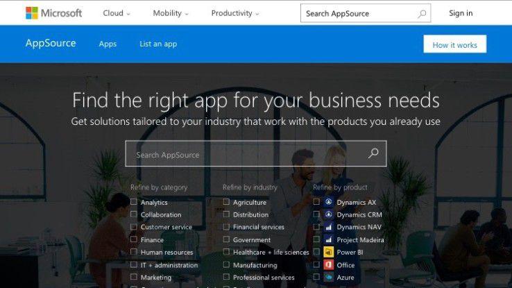 Microsofts B2B-Softwarestore AppSource ist derzeit nicht erreichbar. Möglicherweise wird er in zwei Wochen auf der Worldwide Partner Conference in Toronto eröffnet.