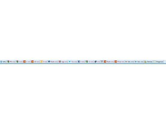 Die SEO Bar, die Suchleiste für SEO Quake, liefert eine Fülle von Informationen zu der gerade geöffneten Webseite. Zum Beispiel sehen Sie im zweiten Feld von links den Google-Pagerank.