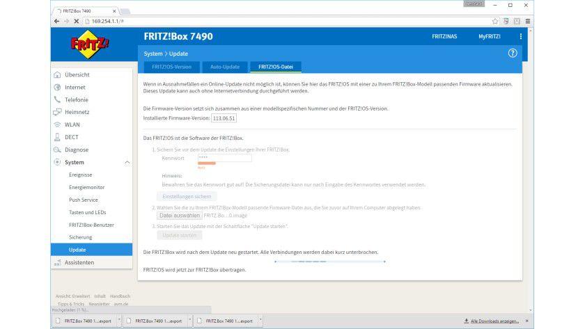 Update bitte: Bevor der MyFritz!-Dienst genutzt werden kann, muss die FritzBox Fon WLAN auf das aktuelle Fritz!OS 6.60 aktualisiert werden.
