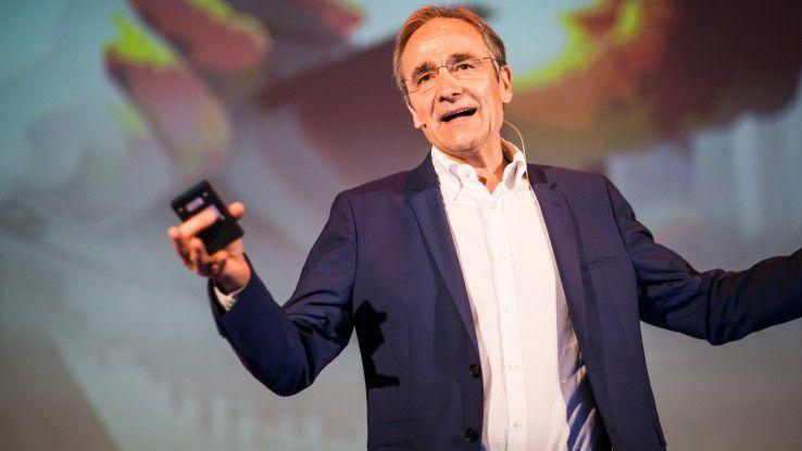"""Karl-Heinz Streibich, Software AG, findet auf dem Digital Business Day deutliche Worte: """"Der CDO ist Bullshit."""""""