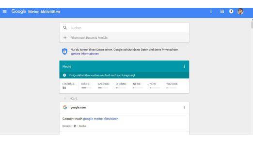 Google Meine Aktivitäten