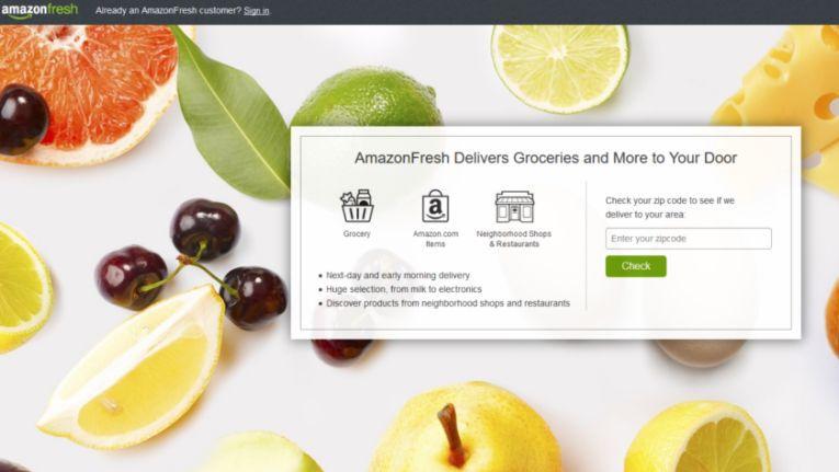 """Laut """"Lebensmittel Zeitung"""" will Amazon seinen Lieferdienst Amazon Fresh im April in Berlin starten."""