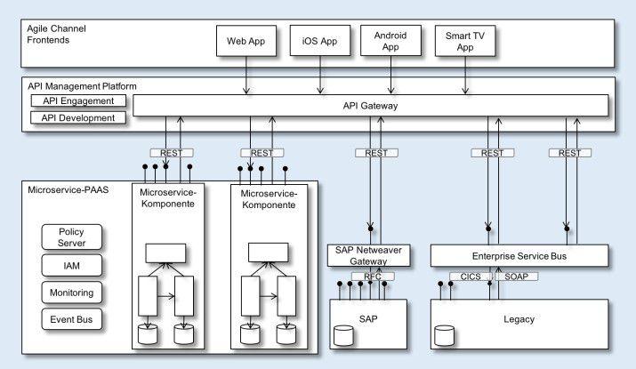 Digitale Unternehmensplattform (technologische Sicht) zur Umsetzung einer API-Strategie