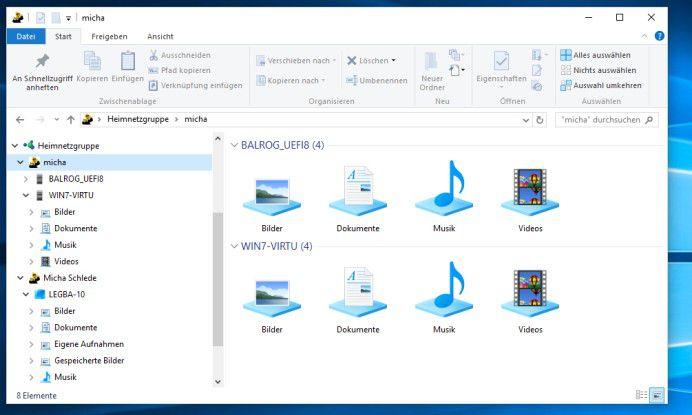 Ein weiterer Vorteil des Heimnetzwerks unter Windows: Mit ihm können Rechner sowohl unter Windows 7 als auch unter Windows 8.1 und Windows 10 einfach vernetzt werden.