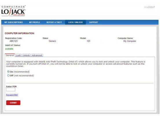 LoJack hilft dabei, ein verlorenes Notebook wiederzufinden.