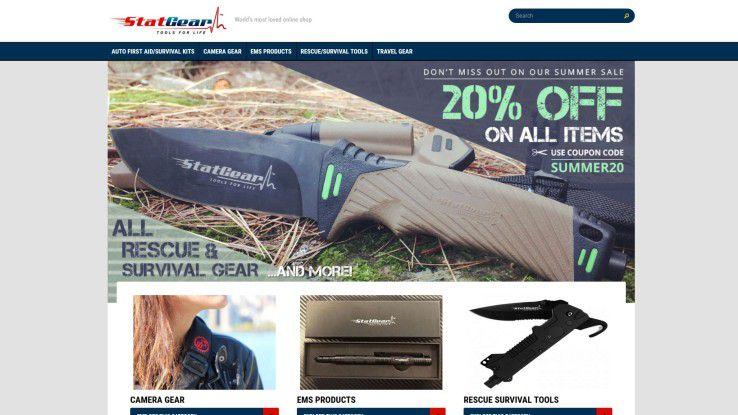 In der Wildnis überleben? Kein Problem - Stat Gear verkauft Survival-Messer, Kletterausrüstung, robuste Kameras und mehr.