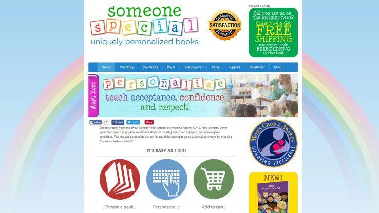 """""""Someone Special Uniquely Personalized Books"""" kreiert Kinderbücher mit persönlichem Anstrich."""