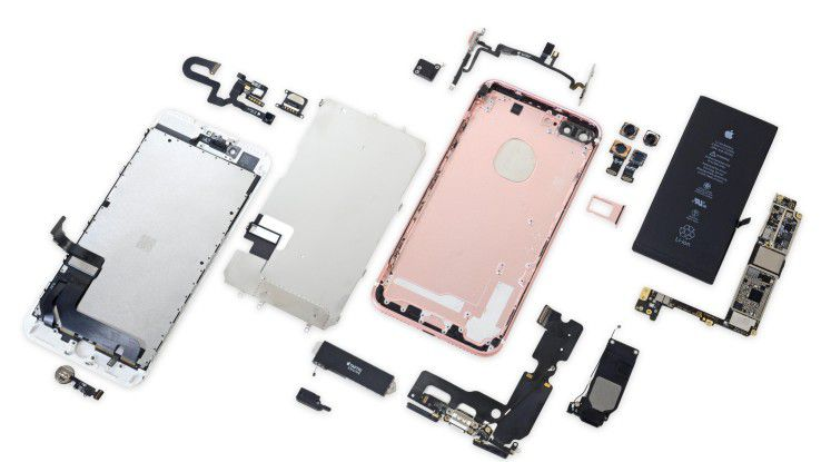 iFixit hat das iPhone 7 Plus zerlegt.