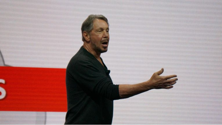 Kampfansage an AWS: Larry Ellison, Chairman und CTO, auf der Konferenz Oracle OpenWorld 2016 in San Francisco.