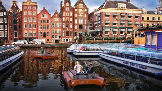 In Amsterdam soll 2017 die erste autonome Boots-Floote zum Einsatz kommen.