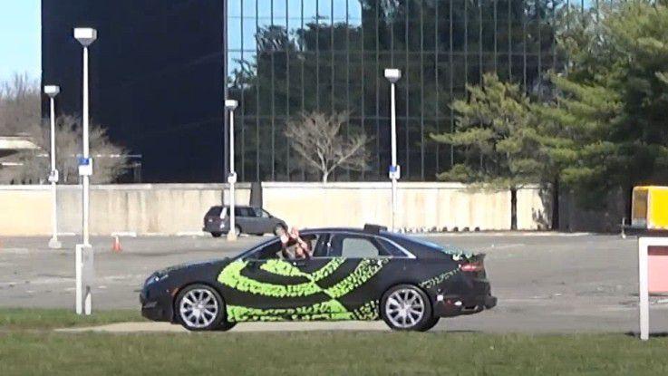 Look mum no hands!: Auch Nvidia ist mit einem autonomen Fahrzeug unterwegs.