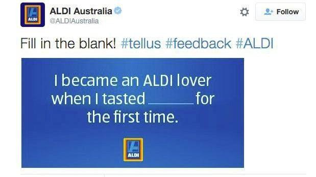 Lückentexte wie dieser hier von Aldi Australien können nach hinten los gehen.
