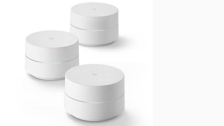 Noch unklar ist, wann das WLAN-System Google WiFi hierzulande erhältlich ist.