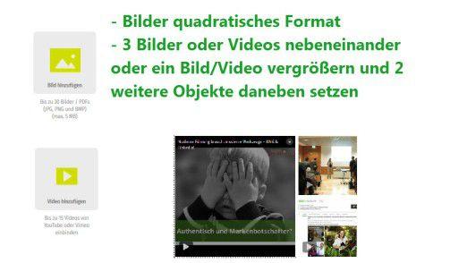 Einbinden von Bildern und Videos in das XING-Profil