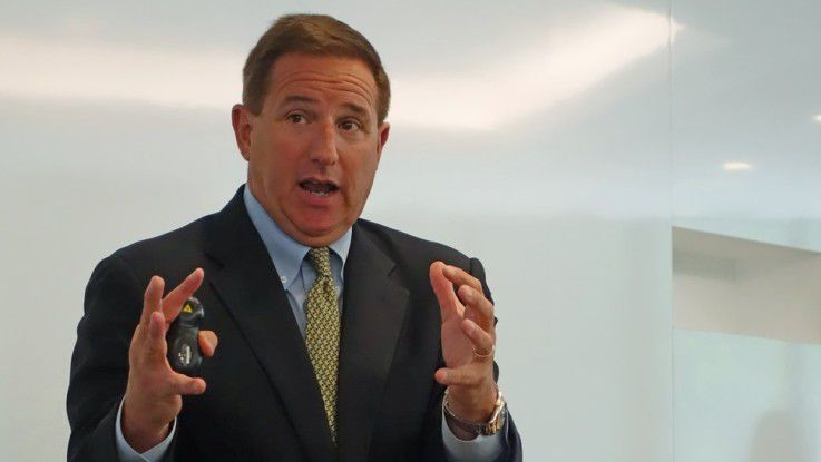 Mark Hurd, Co-CEO von Oracle, glaubt, den Cloud-Konkurrenten Salesforce bald einholen zu können.