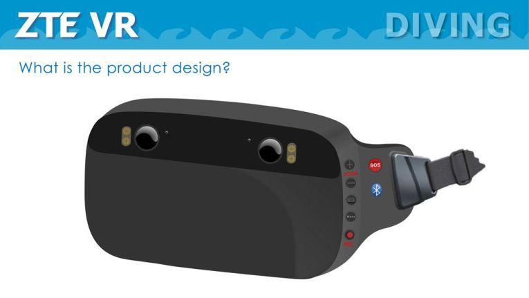 Mit der wasserdichten VR-Brille soll es möglich sein, im Pool fantastische Unterwasserwelten zu erkunden.