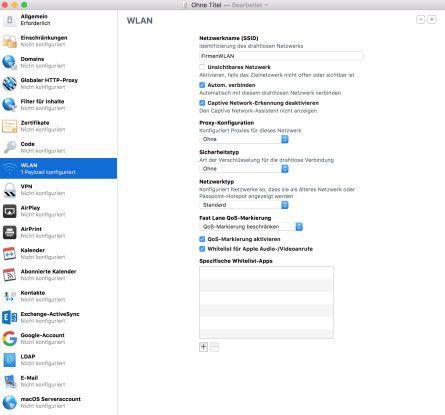 In einem Cisco-Netzwerk kann der IT-Admin für iOS-10-Geräte mit Hilfe einer white list festlegen, welche Apps bevorzugt befördert werden.