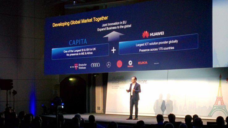 Vincent Pang, President von Huawei Western Europe, will bis 2020 75 Millionen Euro in Europa investieren.