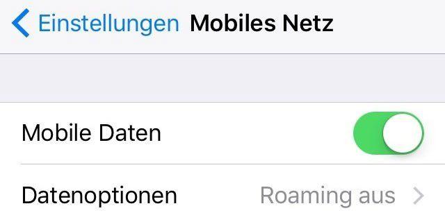 So ist 3G oder LTE an Ihrem iPhone aktiviert, Ausschalten bringt womöglich entscheidende Gesprächsminuten.