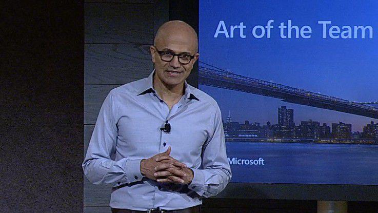 Für Microsoft-CEO Satya Nadella steht vor allem die Cloud als wichtigster Wachstumstreiber für die Zukunft im Fokus.