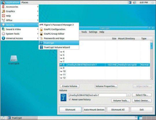 Die Linux-Live-DVD Ubuntu Privacy Remix bietet etliche Sicherheitstools. Mit dabei ist die Verschlüsselungssoftware Truecrypt. So öffnen Sie Truecrypt-Container auch dann noch, wenn etwa Windows 10 das nicht mehr zulässt.