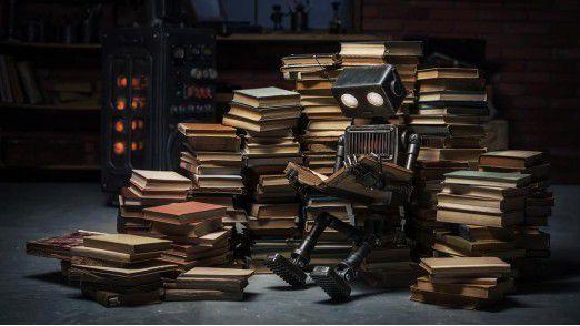 Roboter sollen in Zukunft nicht nur lesen, sondern auch selbst Texte formulieren können.