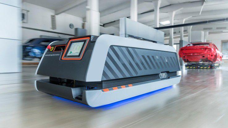Fahrerlose Transportsysteme (FTS) nehmen nicht nur in der Smart Factory von Audi eine wichtige Rolle ein.