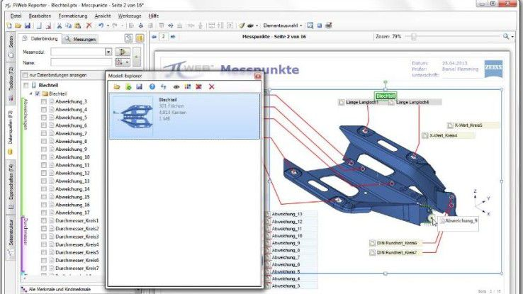 Software wie PiWeb hilft die Datenflut zu visualisieren.