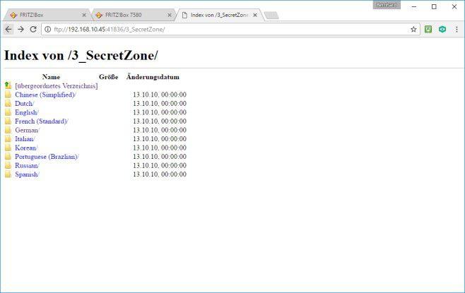 Zugriff: Die NAS-Funktion der Fritz!Box erlaubt den Internetzugriff auf den zentralen NAS-Speicher von überall her.