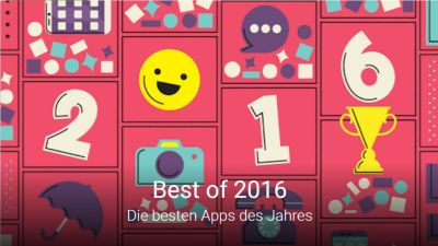 Best Of Google Play Store: Die besten Android-Apps 2016 - Foto: Google