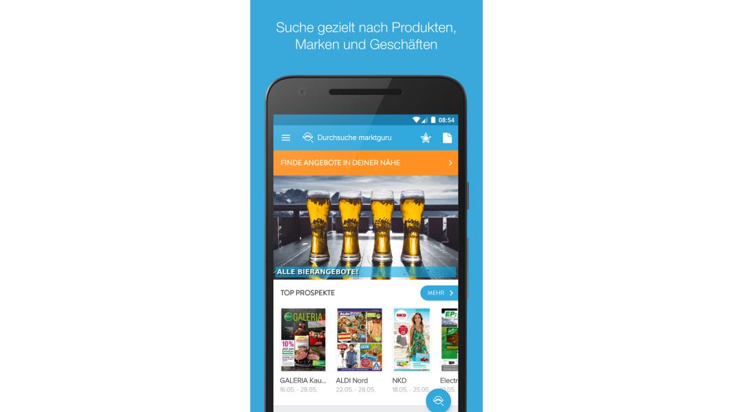 die besten android apps 2016 die besten deutschen apps marktguru prospekte angebote. Black Bedroom Furniture Sets. Home Design Ideas